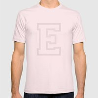 Letter E Mens Fitted Tee Light Pink SMALL