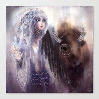 Balavati & The Buffalo Canvas Print