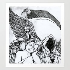 Death Is Everywhere Art Print