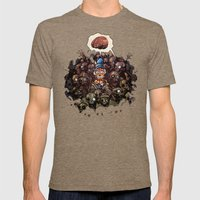 More BRAINS For OZ Mens Fitted Tee Tri-Coffee SMALL
