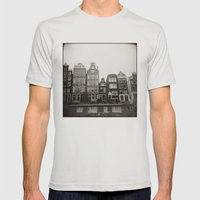 { Teeny Houses } Mens Fitted Tee Silver SMALL