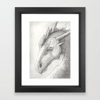 Dragon, Eyes Closed Framed Art Print