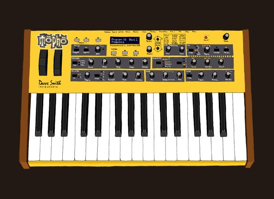 Dave Smith Instruments Mopho Keyboard Canvas Print