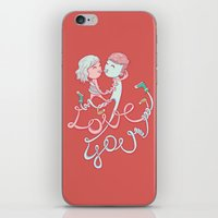 Intertwined Love iPhone & iPod Skin