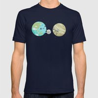I'd Give You The Moon Mens Fitted Tee Navy SMALL