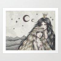 Two Moons Art Print