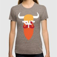 Viking Womens Fitted Tee Tri-Coffee MEDIUM