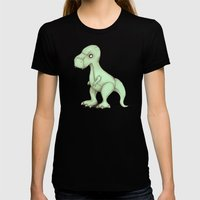 Plushie Rex Womens Fitted Tee Black SMALL