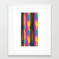 Zig Paint Framed Art Print