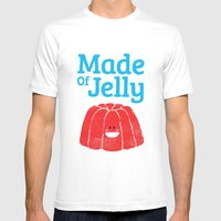 Made Of Jelly Mens Fitted Tee White SMALL