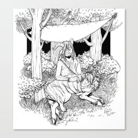 A Temporary Shelter (B&W) Canvas Print