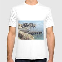 Lifeboat Station, Cornwa… Mens Fitted Tee White SMALL