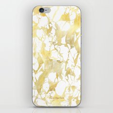 Marble gold iPhone & iPod Skin