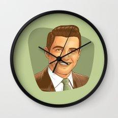 Retro Happy Fancy Dude Wall Clock