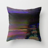 19-46-12 (Black Hole Glitch) Throw Pillow