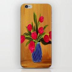 Pink Tulips iPhone & iPod Skin