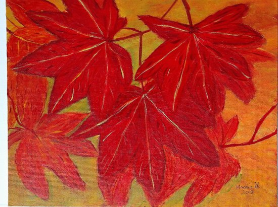 Red leaves Art Print