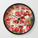 angela's poppies Wall Clock