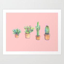 Art Print - four cactus - franciscomffonseca
