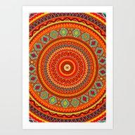 Art Print featuring Mandala Aztec Pattern by Diego Tirigall