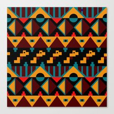 Boho Geometric Pattern 4 Canvas Print