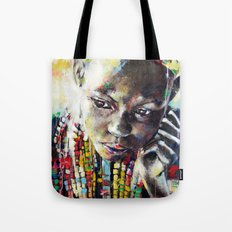 Reverie - Ethnic African portrait Tote Bag