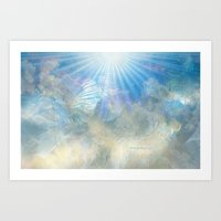 Angel Wings And Heaven Art Print