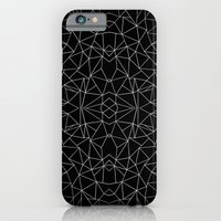 Abstract Collide Outline White on Black iPhone 6 Slim Case