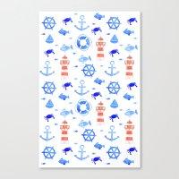Marin pattern Canvas Print