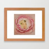 Bloom: Peony Framed Art Print