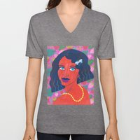Strawberry Girl Unisex V-Neck