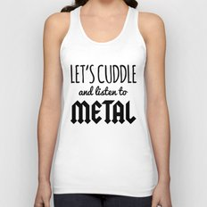 Cuddle Listen To Metal M… Unisex Tank Top