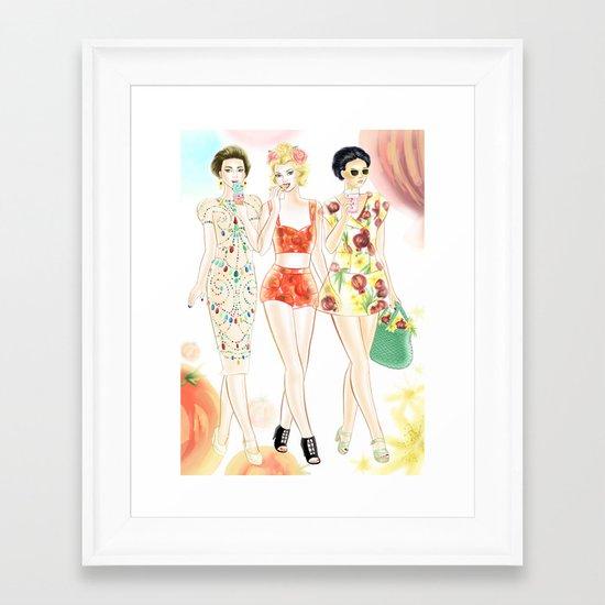 Dolce & Gabbana SS12 Illustration Framed Art Print