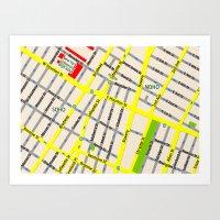 NEW YORK Map Design - SO… Art Print