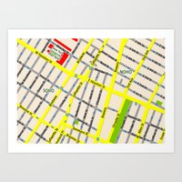 NEW YORK Map Design - SO… Art Print
