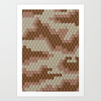 CUBOUFLAGE DESERT Art Print