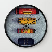 Old Film Rolls Wall Clock