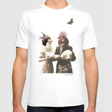Mr & Ms Chick Mens Fitted Tee SMALL White