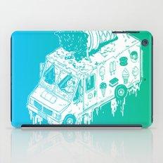 Melty Ice Cream Truck - Mint iPad Case