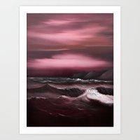 Sea of Crimson Art Print
