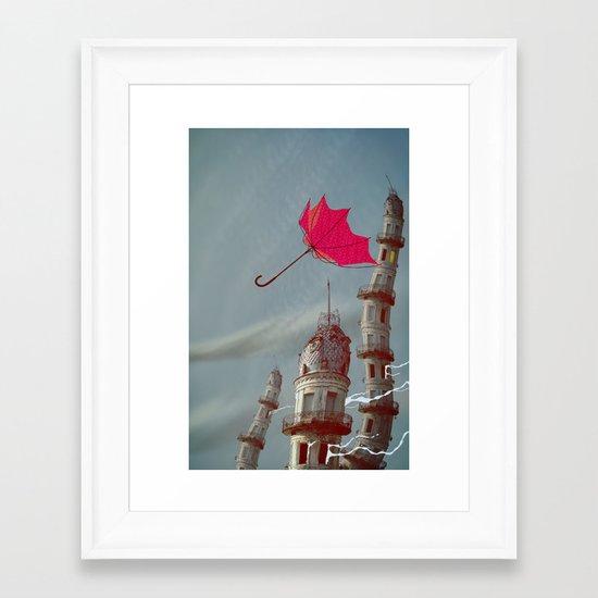 The Wind Framed Art Print