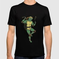 Michelangelo Mens Fitted Tee Black SMALL