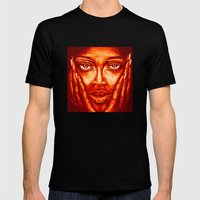 Look At Me /red/ Mens Fitted Tee Black SMALL