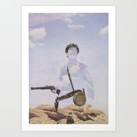 The Unknown Rider in The Mountain Valley War Art Print