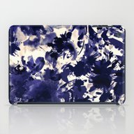 iPad Case featuring Abstract Floral In Deep … by Clemm