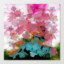 abstract bouquet on watercolors Canvas Print