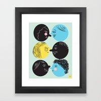 Social Framed Art Print
