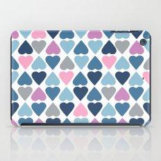 Diamond Hearts Pink iPad Case