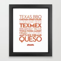 Austin — Delicious Cit… Framed Art Print