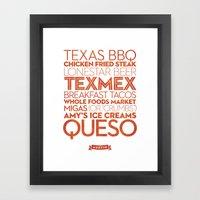 Austin — Delicious Cit… Framed Art Print